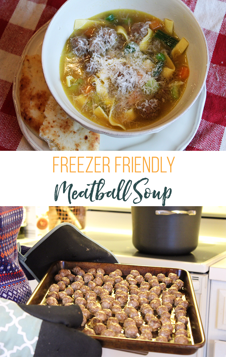 Freezer-friendly Healthy Mini Meatball Soup