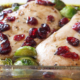 Healthy, delicious cranberry balsamic chicken