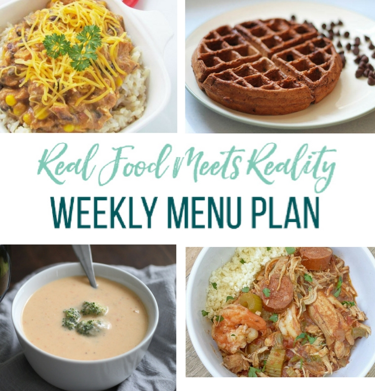 Real Food Menu Plan for January 8 to January 14: Easy and delicious meal ideas that the whole family will love. Posted every Friday at Thriving Home. Easy and delicious meal ideas that the whole family will love. Posted every Friday at Thriving Home.