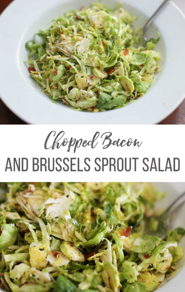 Brussels Sprout Salad in a bowl