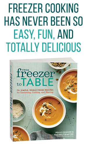 image of freezer meal cookbook