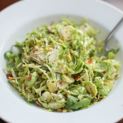 Chopped Bacon and Brussels Sprout Salad