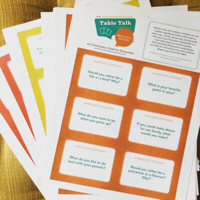 Table Talk Cards: Holiday Table Fun