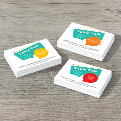 Table Talk Conversation Cards for Dinnertime
