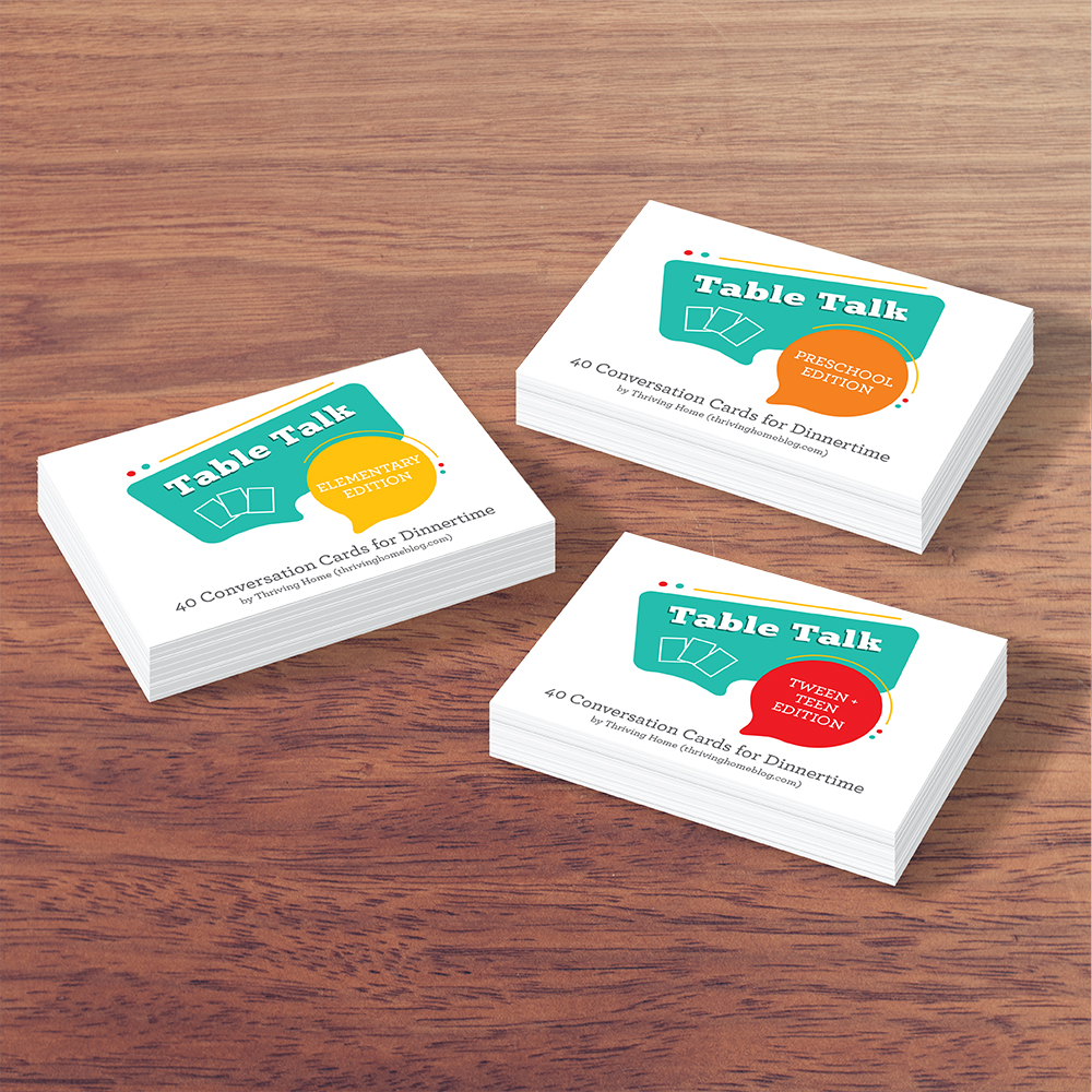 Table Talk Conversation Cards for Dinnertime