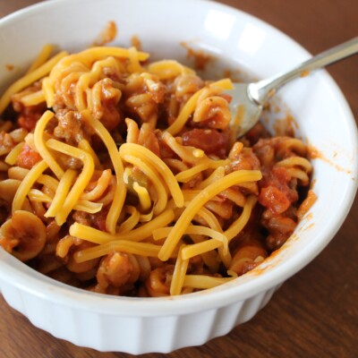 Cheeseburger Instant Pot Pasta