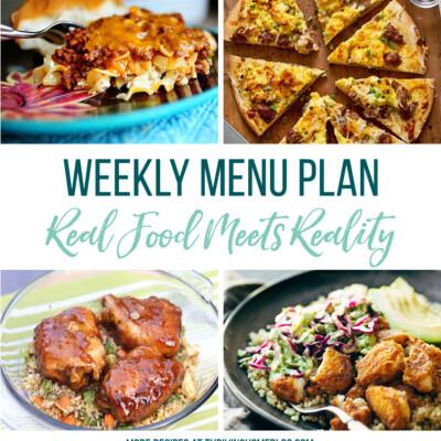 Weekly Menu Plan + Top 5