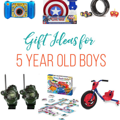 Gift Ideas for a 5 Year Old Boy