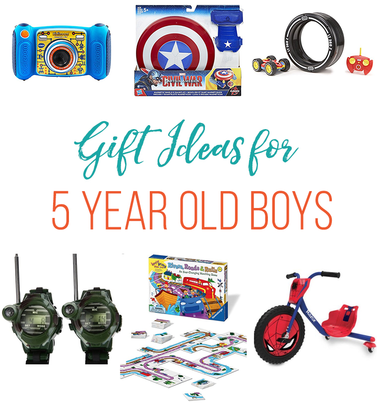 collage image of gifts for preschool boy