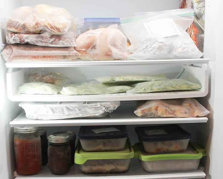 inside freezer