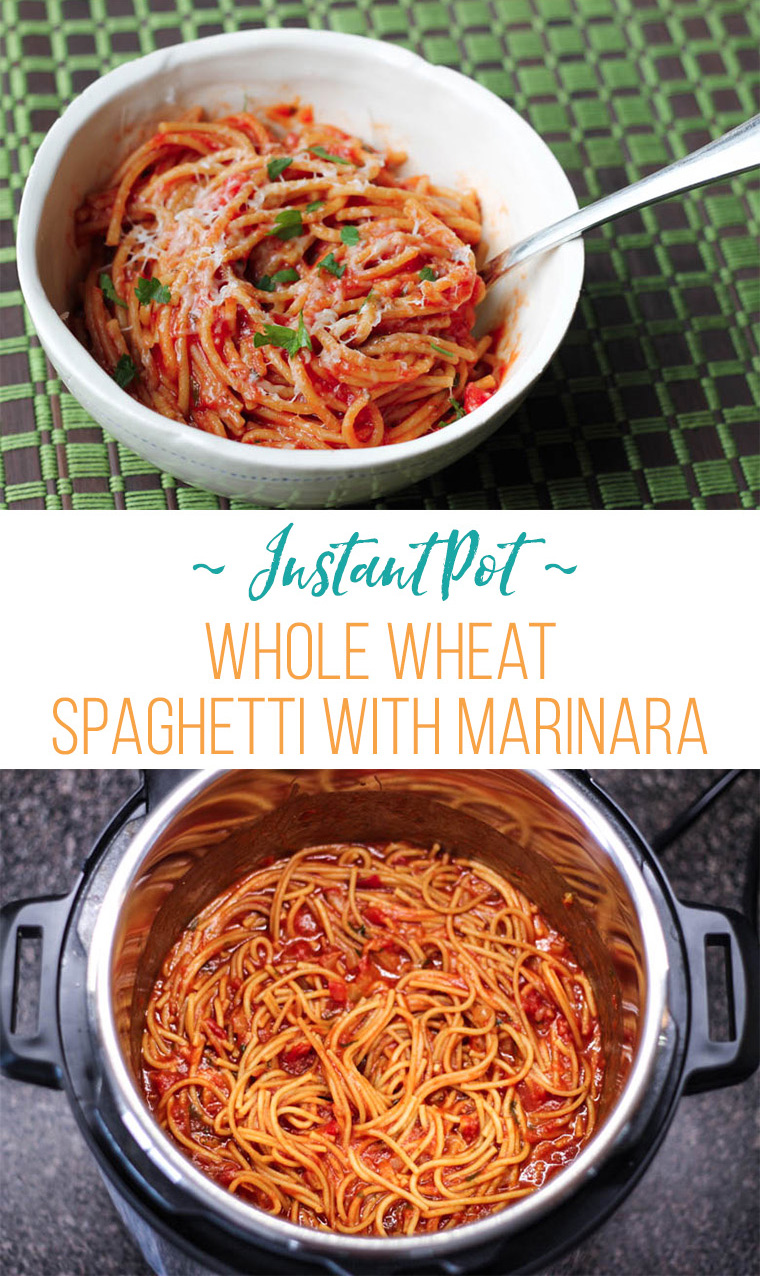 instant pot with spaghetti