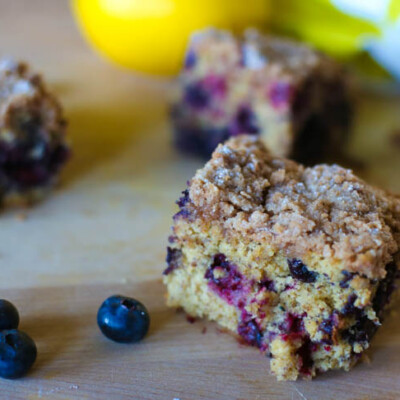 Make Ahead Blueberry Crumble Breakfast Cake