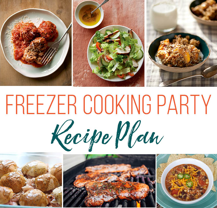 collage image of freezer meal recipes