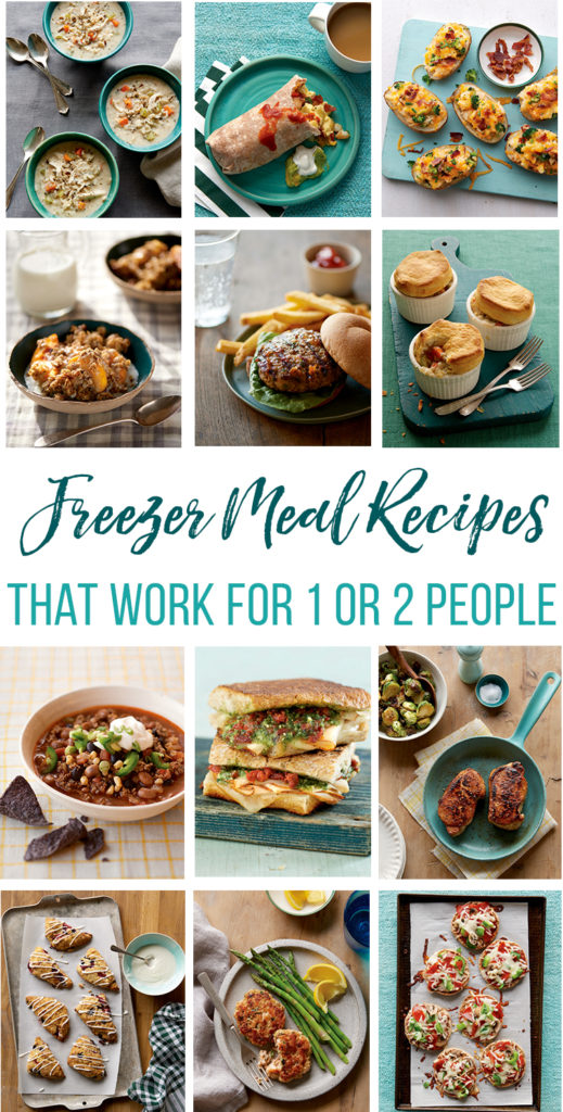 Freezer Meal Ideas for 1 or 2 people