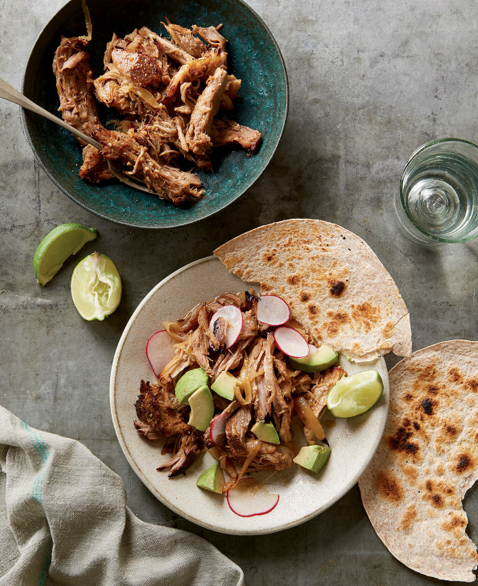 Freezer meals for one or two people: Carnitas