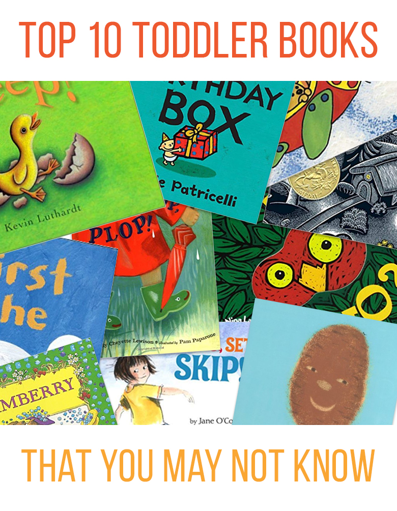 Collage image of toddler books that you may not know
