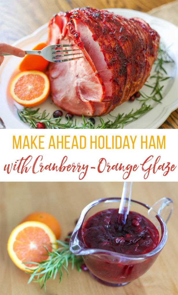 ham and cranberry sauce