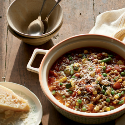Hearty Vegetable Lentil Soup (Freezer Meal)