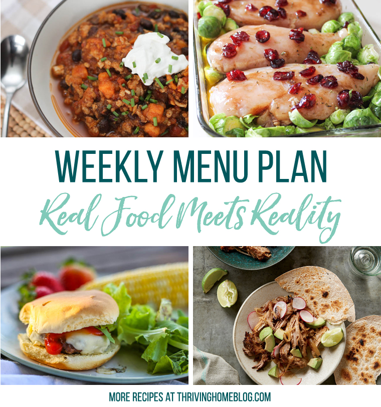 Family No Junk Food Menu Plan
