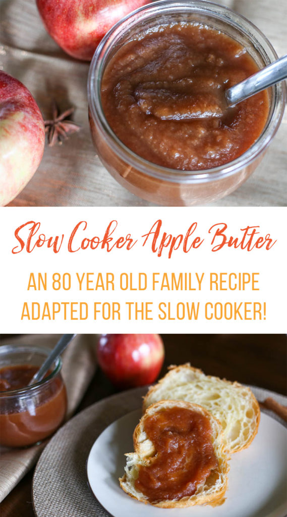 slow cooker apple butter in a jar