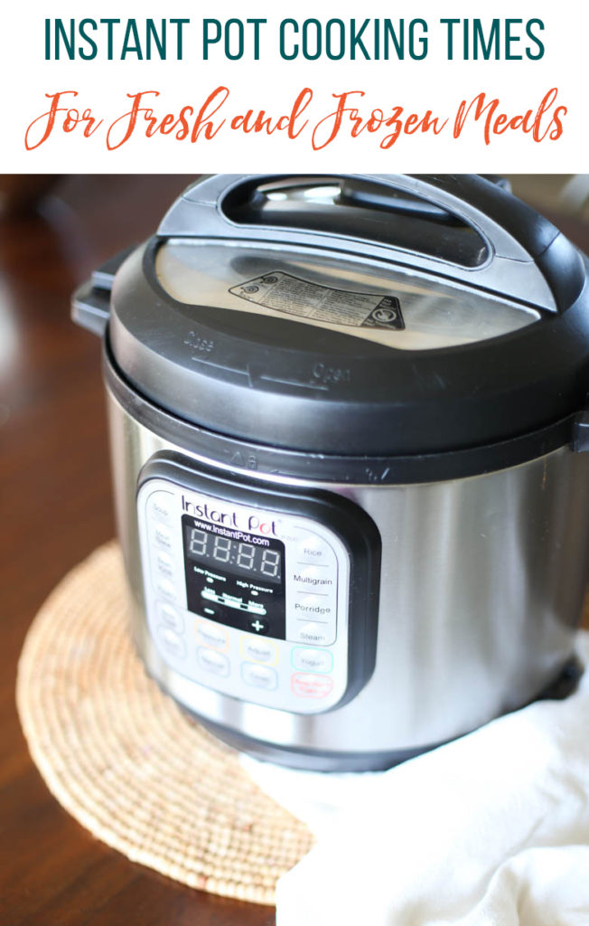 Instant Pot Freezer Meal Cooking Times