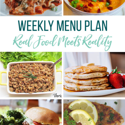 Weekly Menu Plan + Top 5  Hy-Vee Sales (12.7.18)