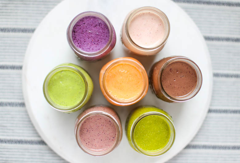 colorful smoothies