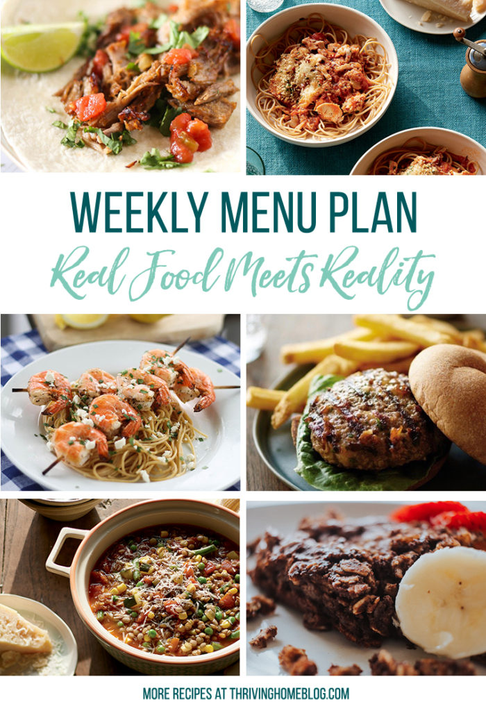 Free Weekly Menu Plan. Easy Meal ideas for the whole week!