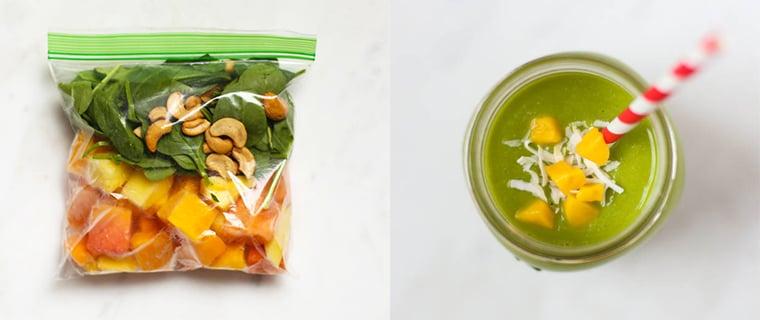 4-ingredient tropical smoothie pack
