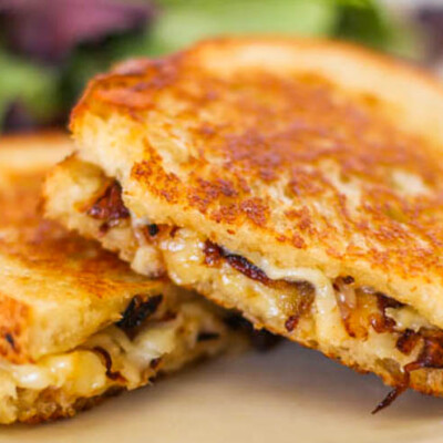 4 Ingredient Gourmet Grilled Cheese