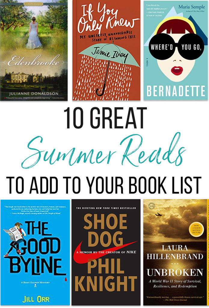 Add these 10+ books to your summer reading list! The common threads in our diverse summer book list? Each of these are redemptive, inspiring, and/or simply fun books that had us walking away as fully satisfied readers!