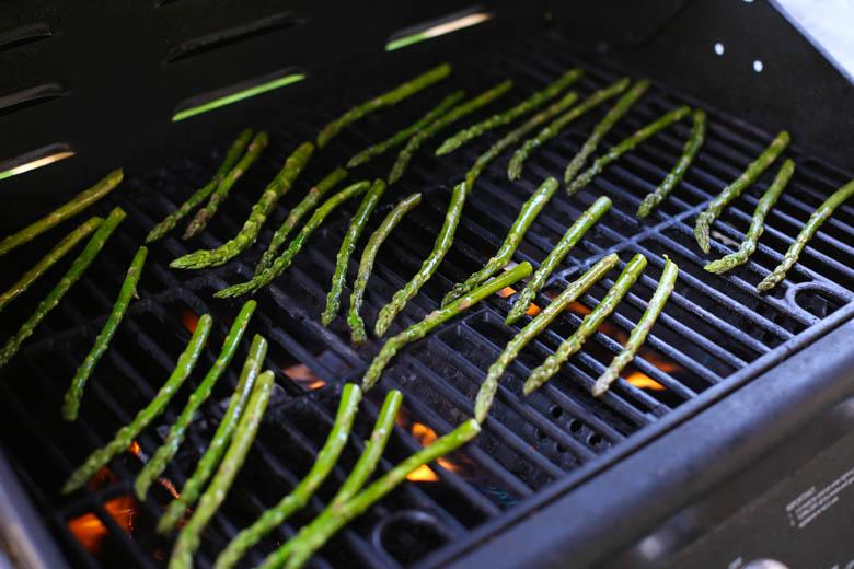 Asparagus on a grill