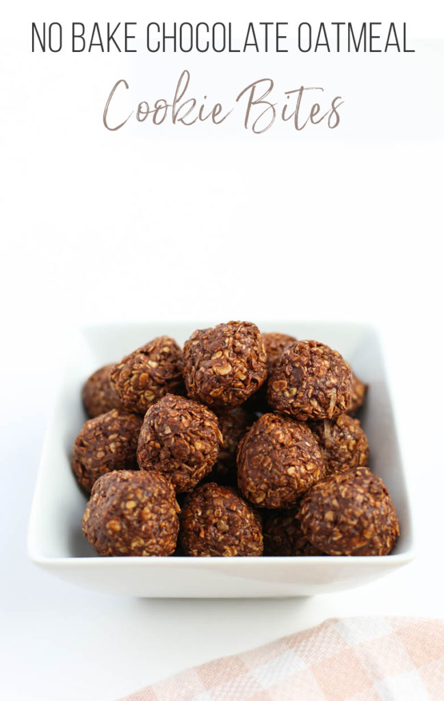 No Bake Chocolate Oatmeal Cookie Bites: Gluten-Free, Dairy-Free