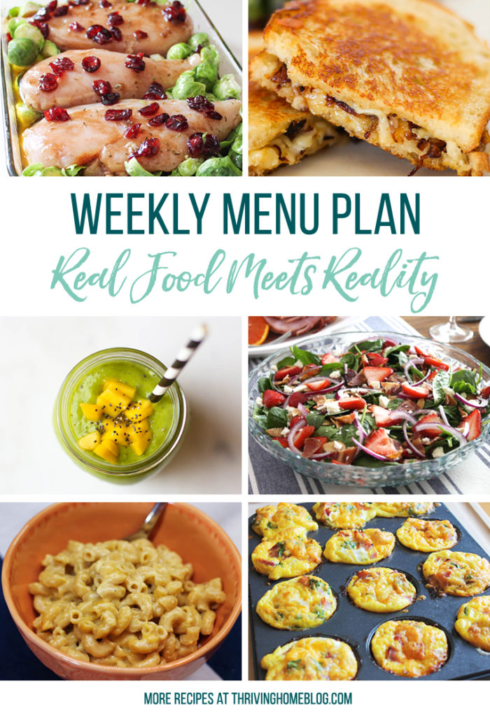 Free Weekly Menu Plan