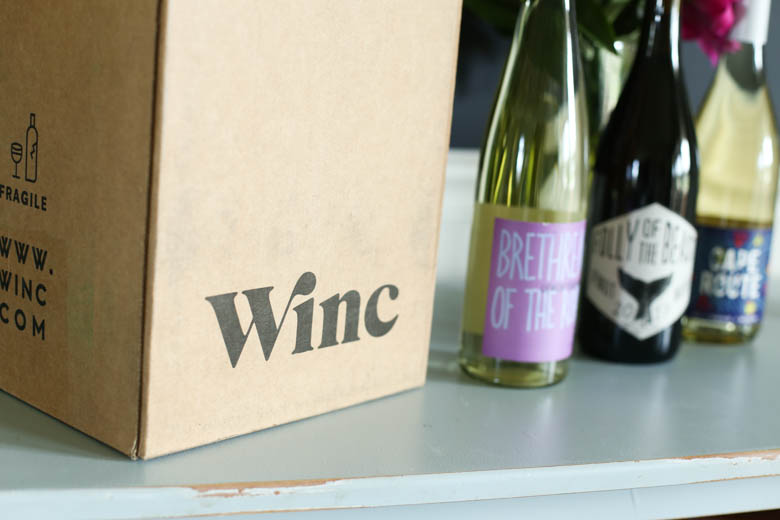 Winc box with wine