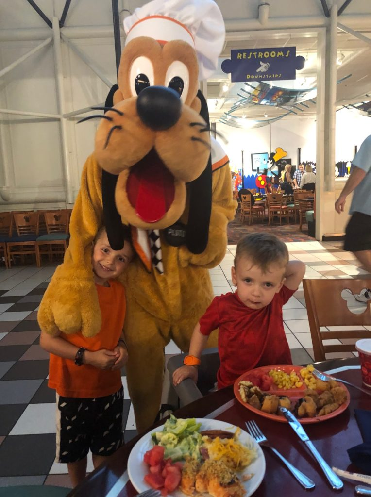 Pluto at Disney World
