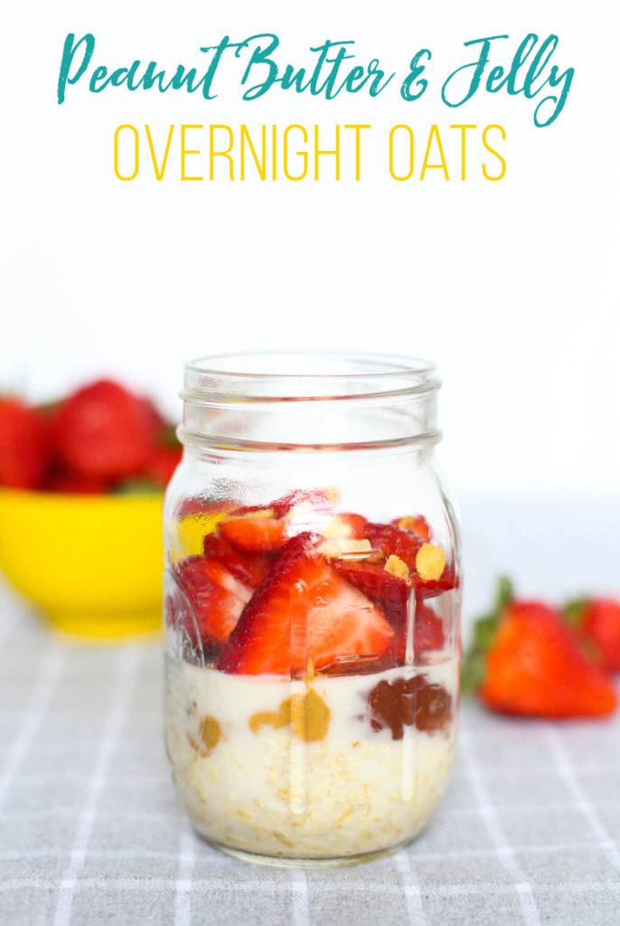Make-ahead Peanut Butter and Jelly Overnight Oats take just minutes to put together and provide a super nutritious and quick breakfast.
