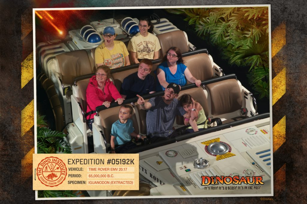 Dinosaur ride at Disney World