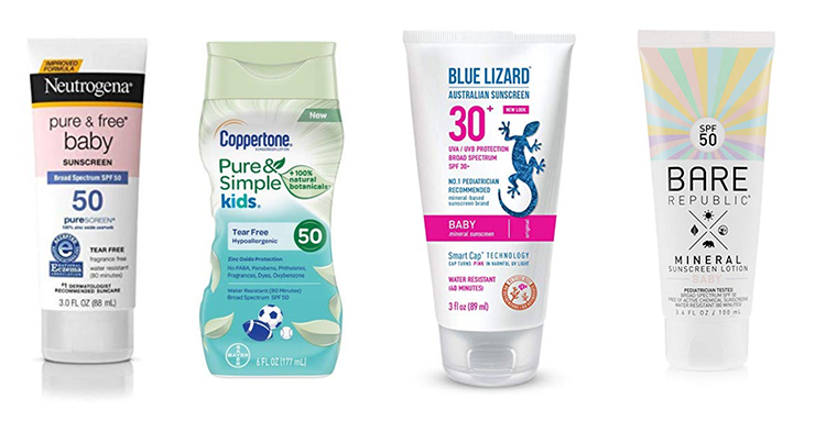 Safe Sunscreen lotions for kids