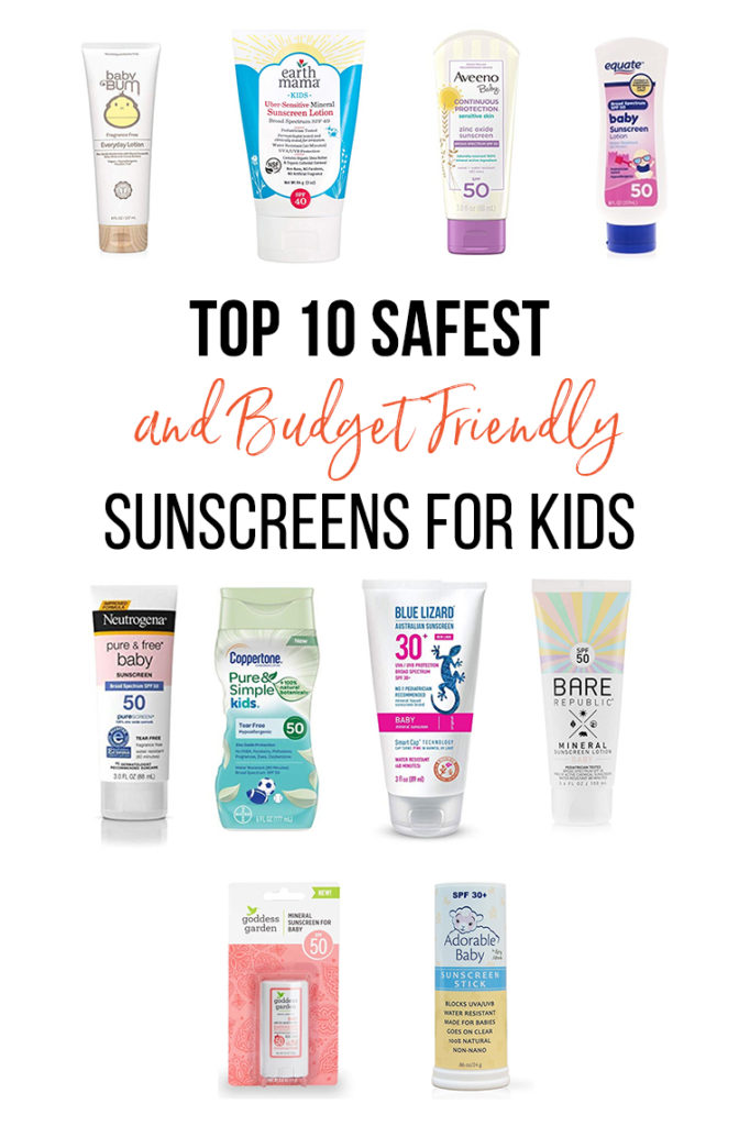 Top 10 Safest and Budget Friendly sunscreens for kids