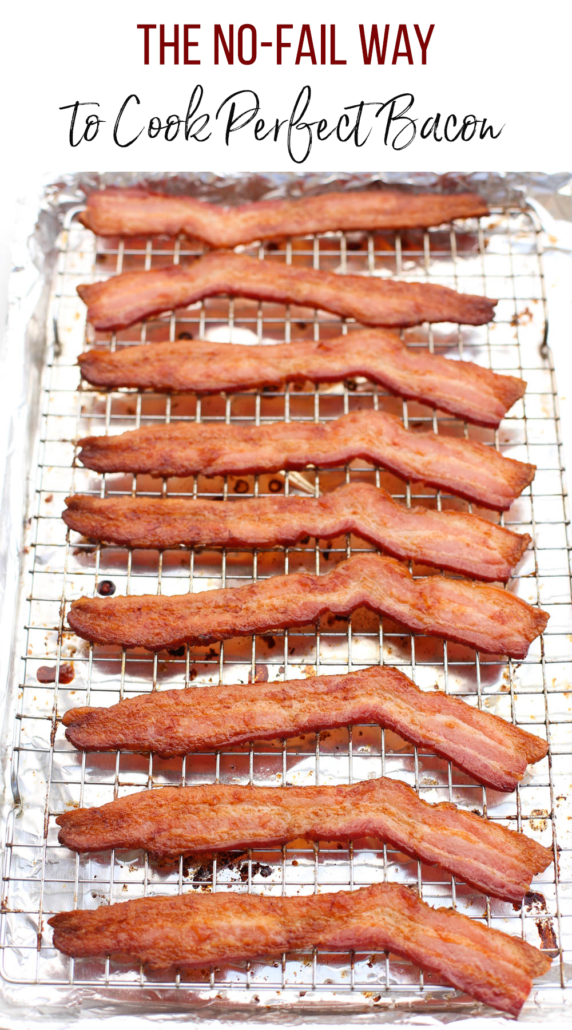 baked bacon on a wire rack