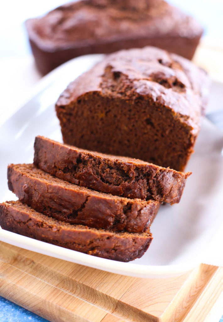 chocolate sweet potato banana bread