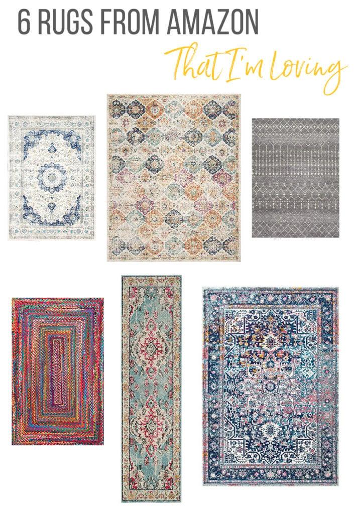 6 Amazon rugs