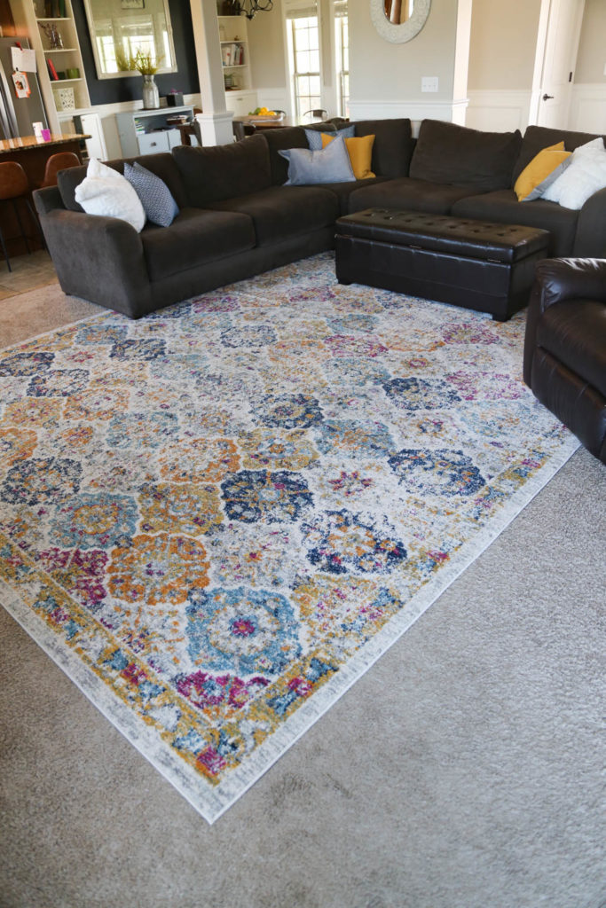 Living space rug