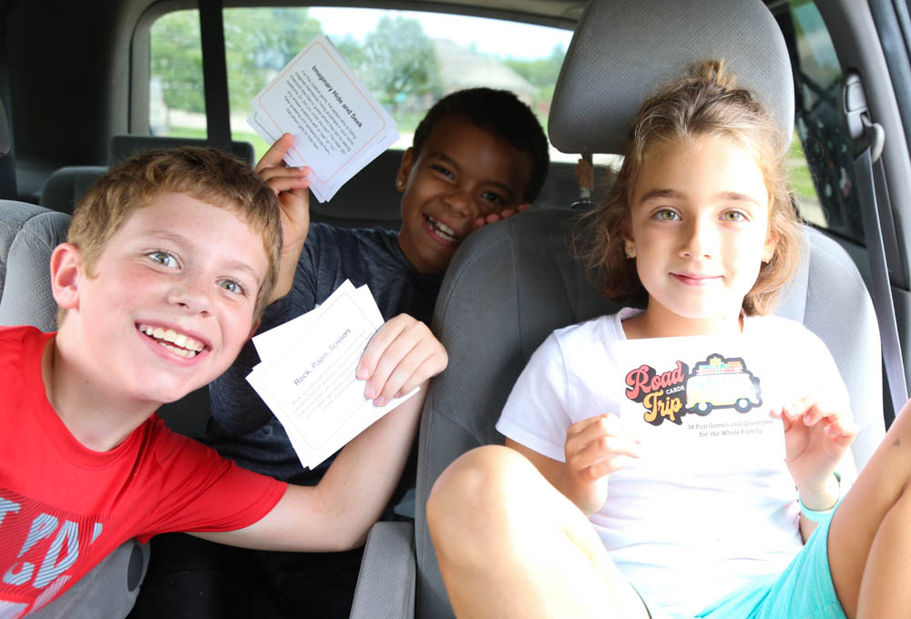 Ditch the screens! These Road Trip Cards will turn trips or wait time into fun, family time. From laugh-out-loud silly stories to name-it competitions, get ready for all ages to be entertained!