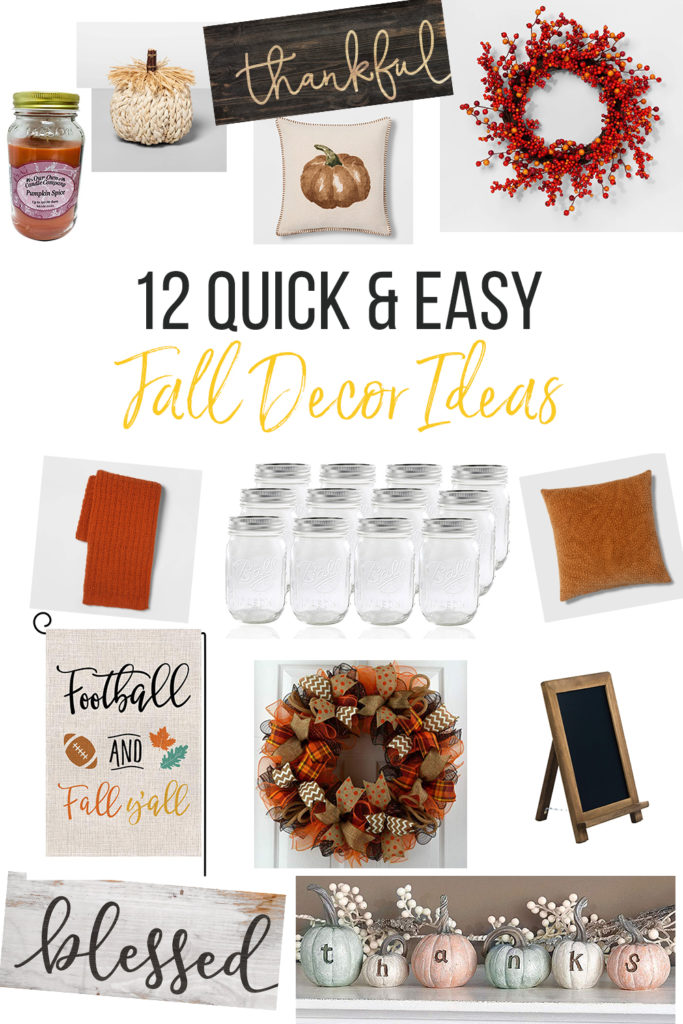 12 quick and easy fall decor ideas