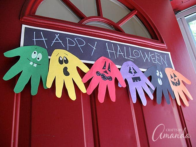 Happy Halloween hand banner craft