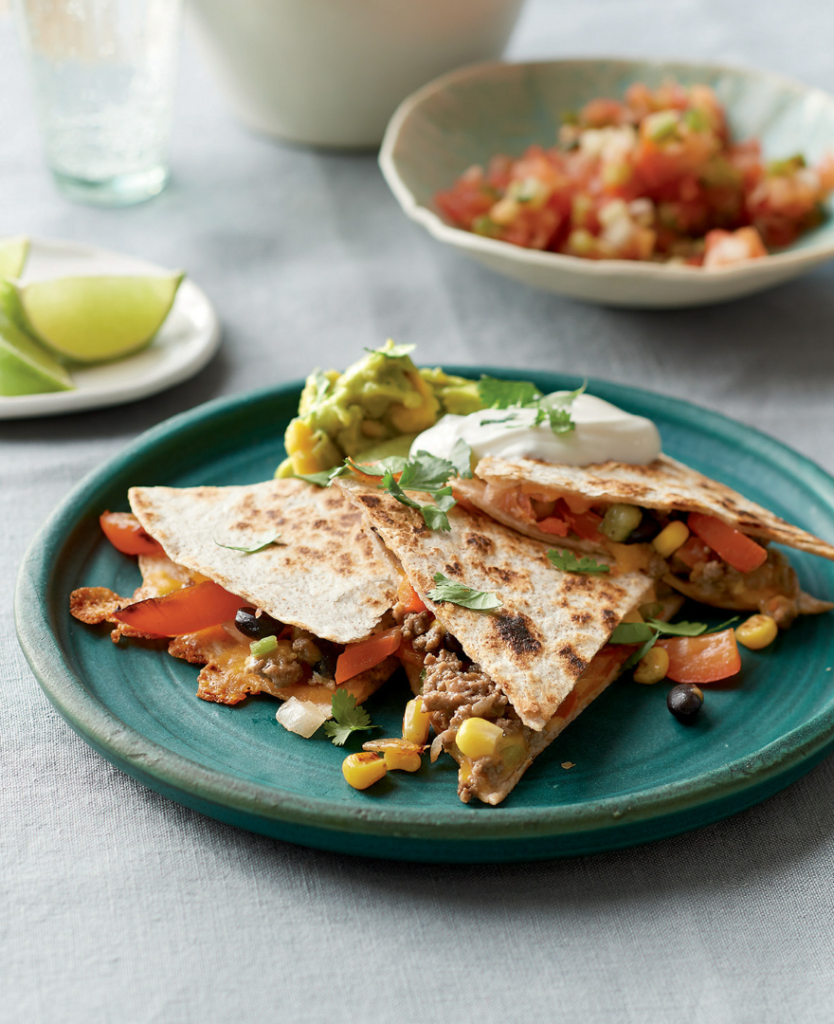 Easy Beefy Quesadillas from From Freezer to Table Cookbook