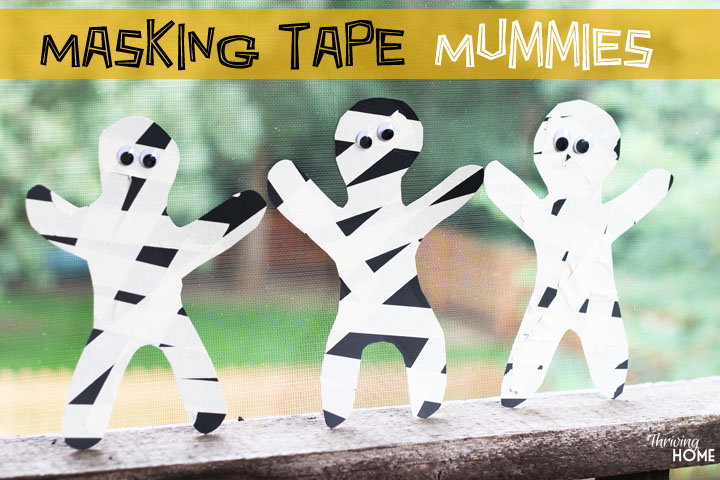 masking tape mummy craft