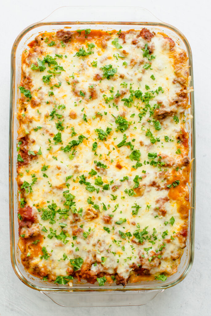 Baked Penne Pasta in a 9x13 dish